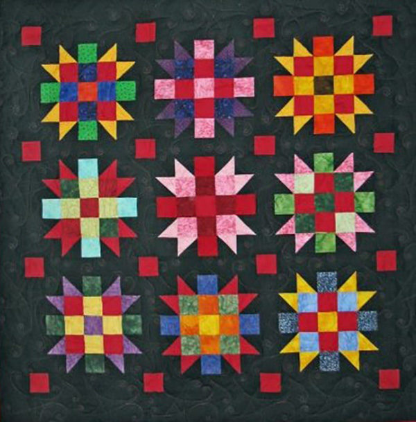 Sample quilt for color college workshop