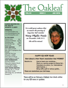 January 2016 issue of The Oakleaf