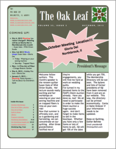 October 2012 issue of The Oakleaf