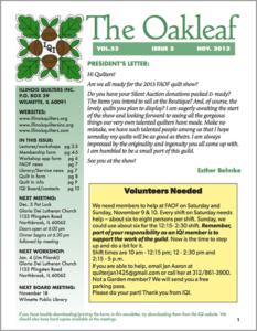 November 2013 issue of The Oakleaf