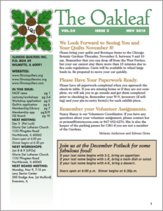 November 2015 issue of The Oakleaf