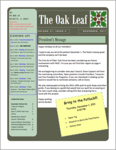 December 2011 issue of The Oakleaf