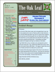December 2012 issue of The Oakleaf
