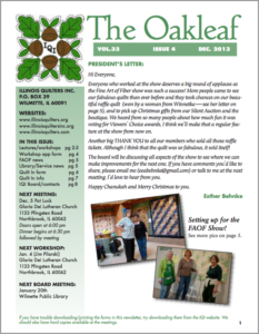 December 2013 issue of The Oakleaf