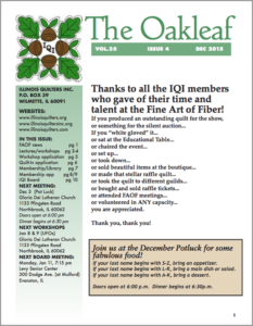 December 2015 issue of The Oakleaf