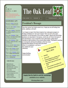 February 2012 issue of The Oakleaf