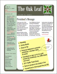 March 2011 issue of The Oakleaf