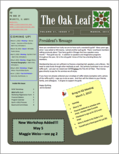March 2012 issue of The Oakleaf
