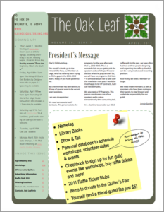 April 2011 issue of The Oakleaf