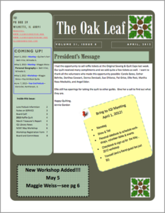 April 2012 issue of The Oakleaf