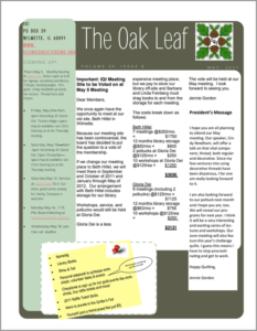 May 2011 issue of The Oakleaf