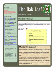 May 2012 issue of The Oakleaf