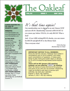 May 2016 issue of The Oakleaf
