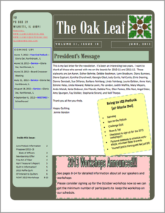 June 2012 issue of The Oakleaf