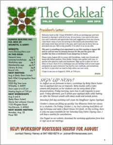 August 2016 issue of The Oakleaf