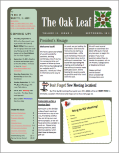September 2011 issue of The Oakleaf