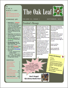 September 2012 issue of The Oakleaf