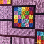 Free-motion quilted grids