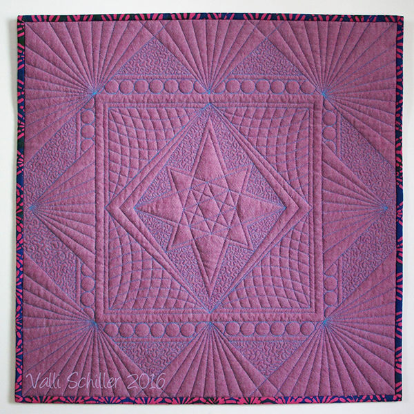 Example of ruler guided quilting