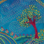 Lo-res image of stitched tree quilt