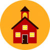 Illustration of a little red schoolhouse