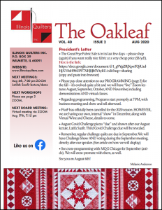 August 2020 issue of The Oakleaf