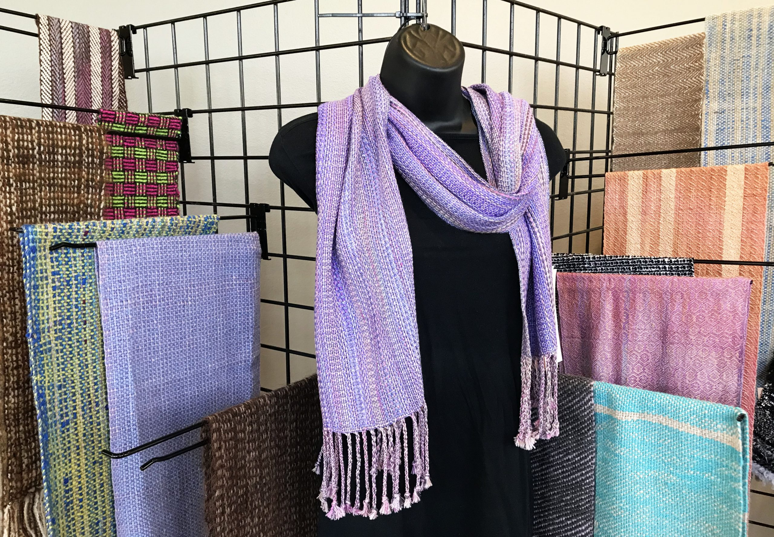A beautiful selection of woolen scarves