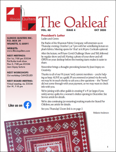 October 2020 issue of The Oakleaf