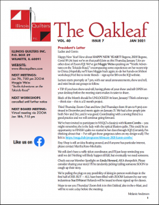 January 2021 issue of The Oakleaf