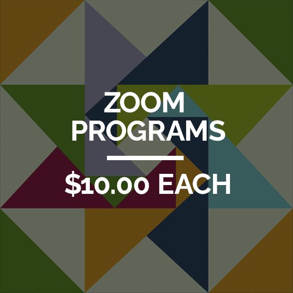 """Zoom Programs $10.00 Each"" art card"