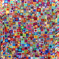 Jean Impey's colorful eight-star quilt