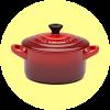 Photo of red casserole pot
