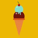 Illustration of ice cream cone