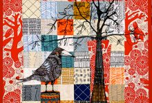 Pam Holland's illustrated tree quilt
