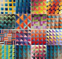 A colorful quilt by Carolina Oneto