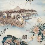 Tokaido Road fabric pattern
